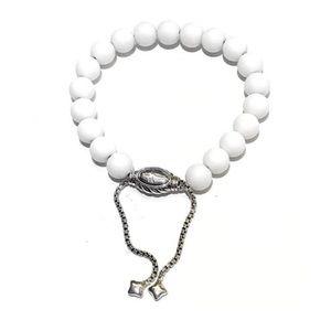 David Yurman - Spiritual Bead White Agate Bracelet